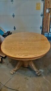 1880s antique solid oak claw foot dining or kitchen tab Gatineau Ottawa / Gatineau Area image 2