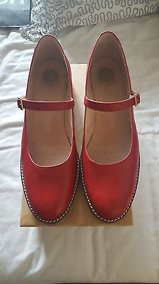 Rote Mary Janes, Gr. 41, Red or Dead