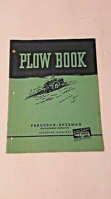 Vintage Original Ford Ferguson-sherman Plow Book Manual 1940