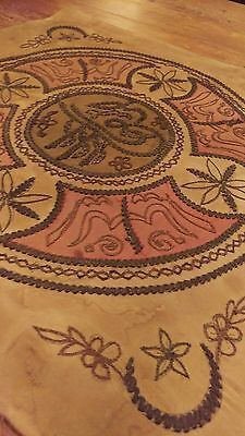 stunning antique Islamic backed  embroidery panel