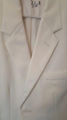 Boys White tuxedo jacket 2 button notch collar 2 Button Notch Boys Tuxedo