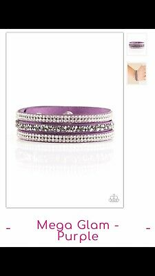 NEW PAPARAZZI MEGA GLAM PURPLE WRAP BRACELET