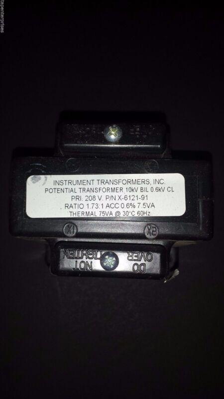 Instrument Transformers Inc Potential Transformer, X-6121-91, 468-208