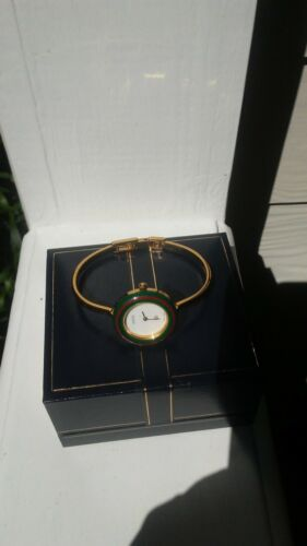 "GUCCI Change Bezel Bracelet WATCH GOLD PLATED. ""REDUCED $200.00!"""