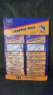 12 CRAPPIE / PERCH PREMIUM RIGS SIZE 2/0 DOLPHIN BRAND NEW VERTICAL FISHING RIGS