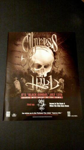 "CYPRESS HILL ""BLACK SUNDAY""  1993   RARE ORIGINAL PRINT PROMO POSTER AD"