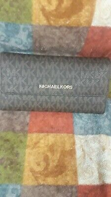 Michael Kors Brown Signature Trifold Wallet