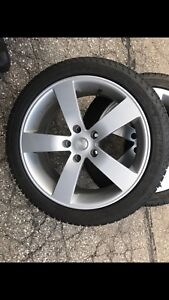245/40R18 Michelin X-ICE Snow Tires on Alloy Rims off 15 CTS