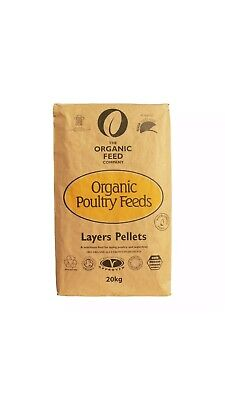 POULTRY FOOD ORGANIC LAYERS PELLETS 20kg Allen & Page Organic Feed GREAT PRICE