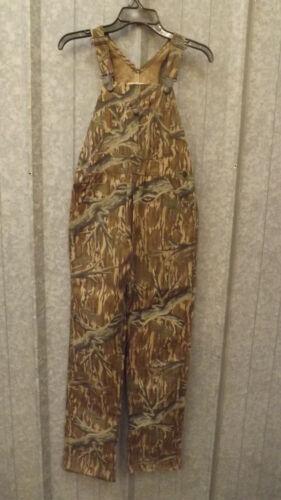 Vtg NEW Mossy Oak Tree Stand Camo Bib Overalls Youth L 32x32 Duck Cotton Canvas