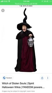 Wanted Witch of stolen souls Halloween prop.