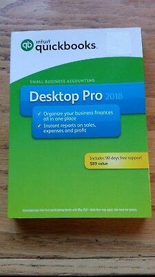 Quickbooks Desktop Pro 2018   Disk   Brand New  Quick Ship  90 Days Free Support