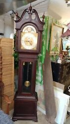 Antique Grandfather Clock Mahogany Tall Case - Baltimore - BEAUTIFUL Condition!