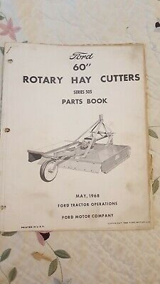 Ford 196860 Rotary Hay Cutters Series 505 Parts Book