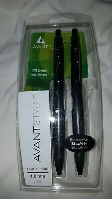 AVANT Style Silk Scribe Ink Pen Black 1mm (1 Pack of two pens) 22881