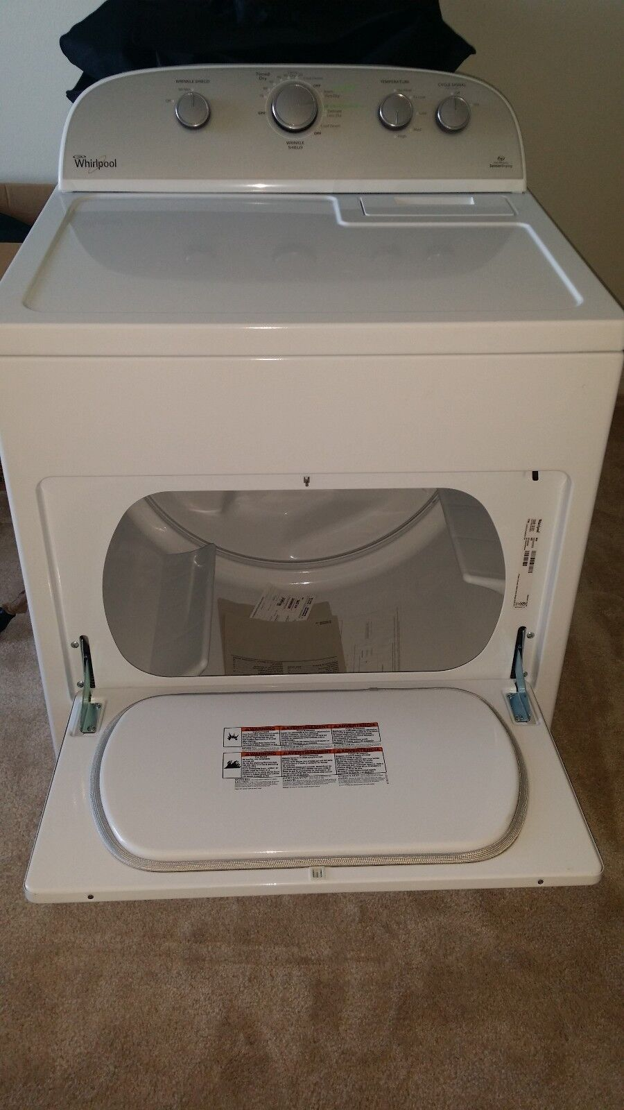 Whirlpool Cabrio 7.0 Cu. Ft. 13-Cycle Electric Dryer: Ensure