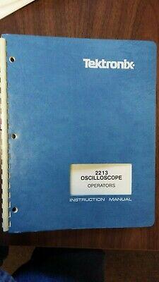 Tektronix Oscilloscope 2213 Operators Manual Instruction Manual