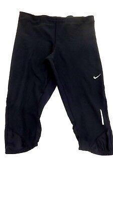 Damen Athletic-hose (Nike Drifit DAMEN Schwarz Bauchfrei Stretch Athletic Hose L)