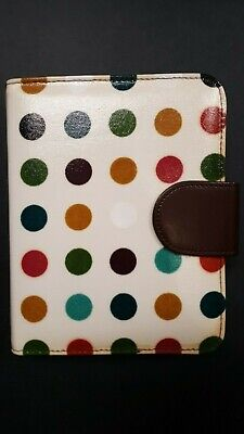Compact Franklin Covey Polka Dot Binder Wundated Weekly Planning Pages