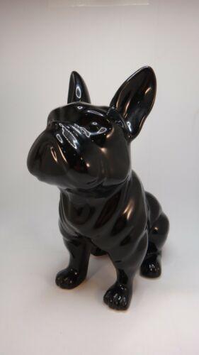 "Black Ceramic 9"" French Bulldog Statue"