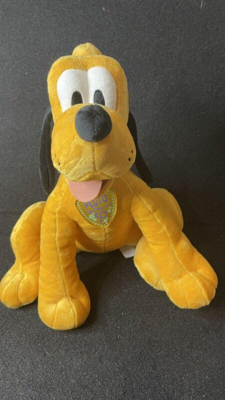 Disney 50th Anniversary Pluto Plush New In Hand