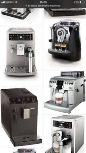Looking for buy any nonworking, unwanted saeco, jura, gaggia,