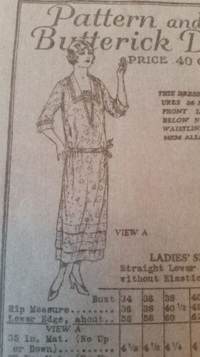 RARE** Antique Sewing Pattern #5364 -1918-1922