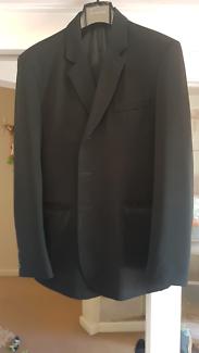 Black Saba wool suit 42R jacket 32 pants - great for races!
