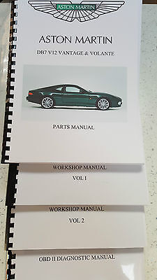 ASTON MARTIN DB7 V12 VANTAGE & VOLANTE WORKSHOP PARTS OBD II 99-03  COMPLETE SET