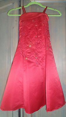 sehr schickes Blumenmädchenkleid in rot Mädchen Nr. 6 ()