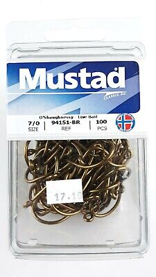 Mustad Ref 92671 Size 7//0 Qty 100