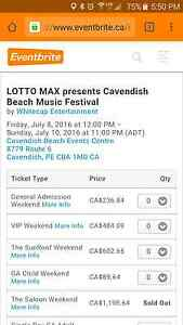 VIP Cavendish Beach Fest ticket