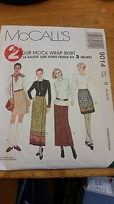 McCall's 2 Hr Mock Wrap Skirt 9014 Size B (8, 10, 12) NEW