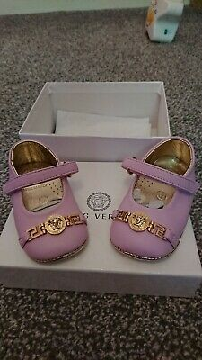 Girls VERSACE Crib Shoes 3-6 Months
