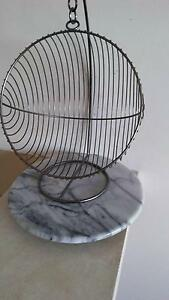 Marble lazy susan and stainless steel fruit basket Mermaid Waters Gold Coast City Preview
