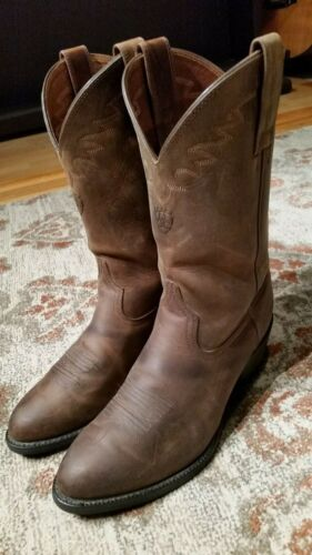 ARIAT, SEDONA, DISTRESSED, BROWN, LEATHER, R, TOE, ROPER, COWBOY, BOOTS, #34625, MENS, 8.5D