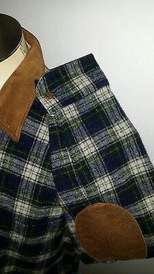 Vintage Woolrich Blackwatch Schottenkaro Tafel Ellenbogen Kariert Flanell Wolle - Black Watch Flanell