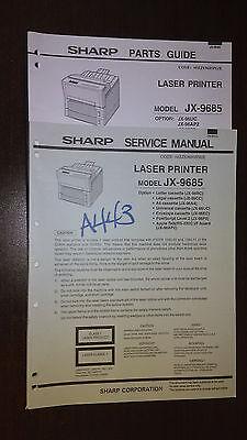 Sharp jx-9685 service manual parts guide laser printer original repair book