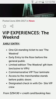 THE WEEKND EARLY ENTRY GA FRI NIGHT