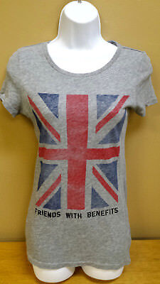 British Flag T Shirt  Womens Xs   Friends With Benefits