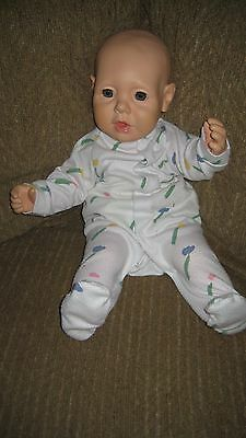 """Vintage 1984 Hasbro J. Turner 20"""" REAL BABY 1985 Bald Blue Eyes Weighted DOLL"""