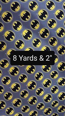 OFFCUT BATMAN DC COMIC SUPERHERO LOGO BAT SIGNAL POLYCOTTON  FABRIC CHARACTER