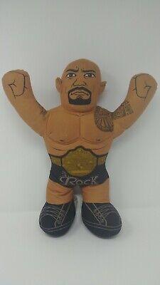 "The ROCK TALKING WWE Wrestling Brawlin Buddies 17"" Plush Toy Figure 2012 Mattel"