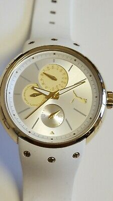 Puma Sports Multi Dail White Watch Excellent Condition