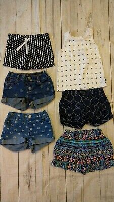 Crazy 8 Nautica Carters Jean Stars Shorts Nautical Ruffle Shorts LOT 2T Girl