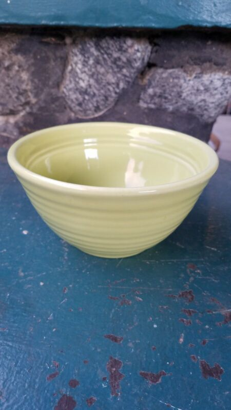 Vintage Bauer Pottery #36 Mixing Bowl Chartreuse Green  Ringware Inside Rings