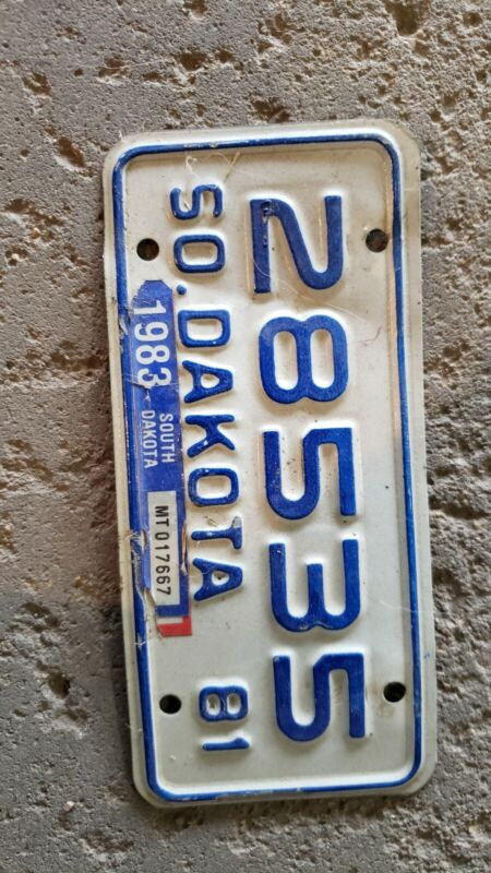South Dakota Motorcycle License Plate