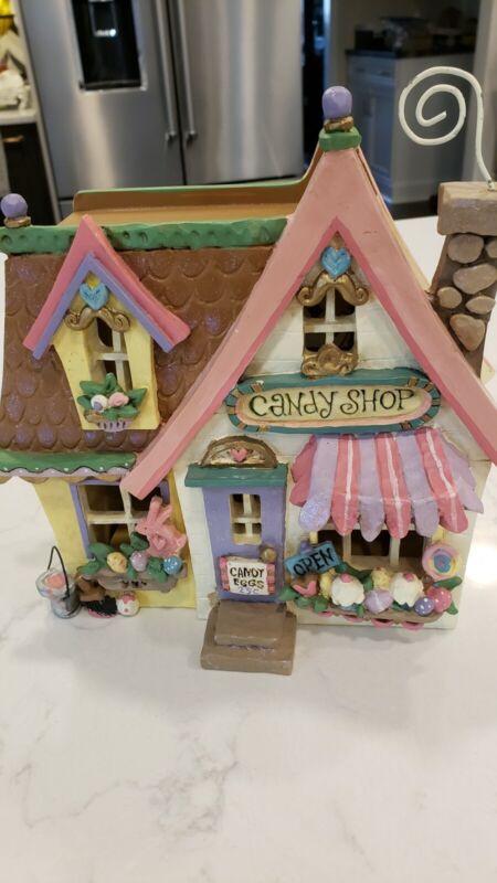Kurt adler Springtown Easter House Candy Shop