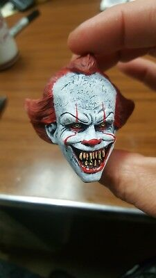 Pennywise the clown demon version from it head for 12 inch body new (Clown Demon)
