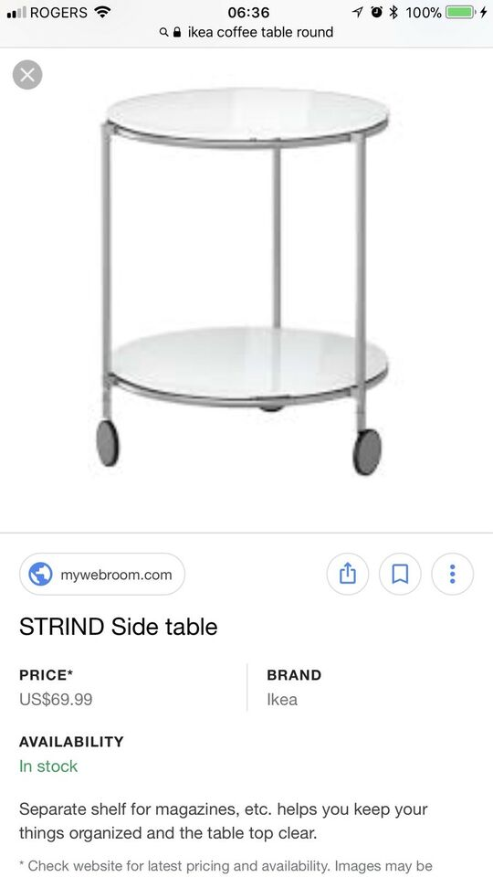 IKEA STRIND Coffee And Side Table Coffee Tables City Of Toronto - Strind coffee table